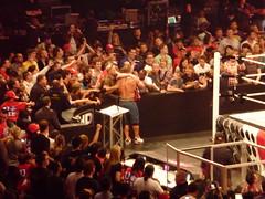 John Cena & Randy Orton vs Miz & CM Punk (simononly) Tags: show uk england london tv raw live wrestling o2 arena entertainment cena miz wwe wwf orton cmpunk actionsoapopera