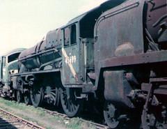 45699 Galatea at Woodham's scrapyard 1977 (Spearmint100) Tags: abandoned jubilee barry scrapyard 1977 locomotives 460 galatea uksteam woodhams 45699 britishsteamlocomotives