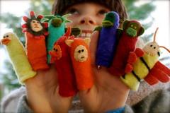 Felted finger puppets