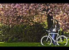 Get a bicycle. You will not regret it, if you live (mr.KIO) Tags: park les la tanya geneva anya grange bootleg eauxvives cinelli mysticrats spring2011genevaswitzerlandmrkiod300snikon yaretskaya