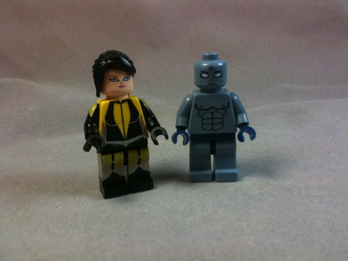 Custom minifig Finally made my Watchmen designs from a couple of years ago!