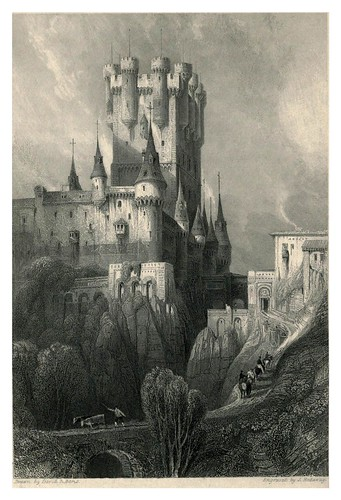 017-El Alcazar de Segovia- The tourist in Spain (1837)-Roberts David