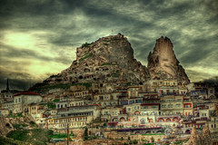 Cappadocia (Uhisar Castle from back side) Uhisar / Nevehir / Turkey (painter&draftsman) Tags: turkey trkiye cappadocia kapadokya nevehir uhisar saariysqualitypictures