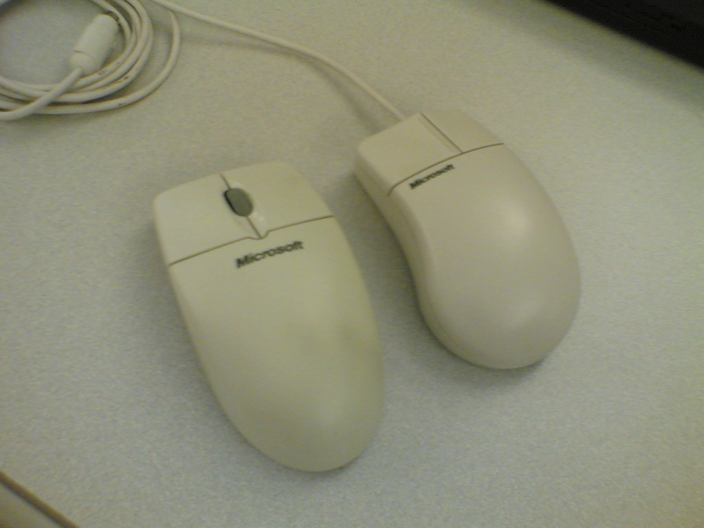 Microsoft Wireless Mouse 1, meet your older brother...