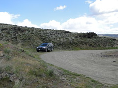 Car still intact at Yakima Skyline trailhead.