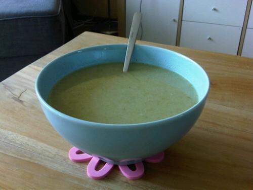 Coconut lettuce soup