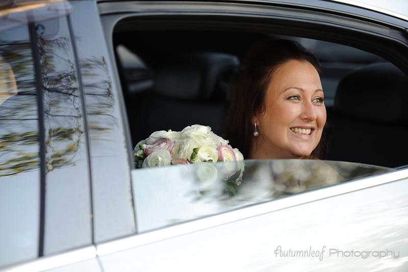 Julia &Sean's Wedding - The bride arrived