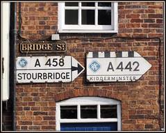Bridgnorth pre Worboys Signs (Stuart Axe) Tags: greatbritain signs sign shropshire unitedkingdom sabre gb roadsign stourbridge wolverhampton kidderminster bridgnorth preworboys worboys cbrd cbrdcom