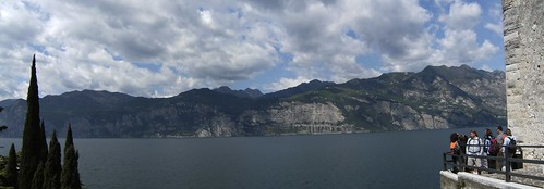 view of Limone from the Castle of Malcesine