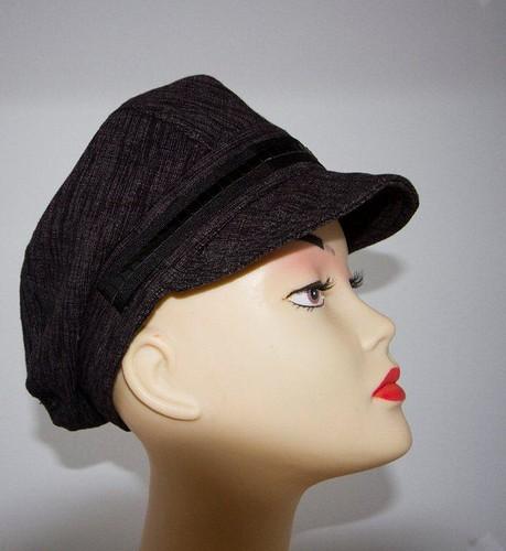 Ladies flat cap sewing pattern by McArt