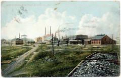Ensley Steel Plant 1908 postcard front