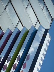 Chicago, Sculpture Abstract (Mary Warren (6.3+ Million Views)) Tags: sculpture chicago abstract lines reflections angle diagonal repetition smurfitstonebuilding impressedbeauty
