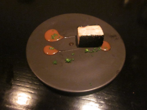 Benu - San Francisco - April 2011 - Fish Sausage, Black Bread, XO Sauce