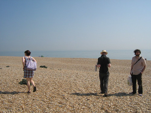Picnic makers on Dungeness beach