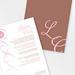 Custom wedding invitation secret love