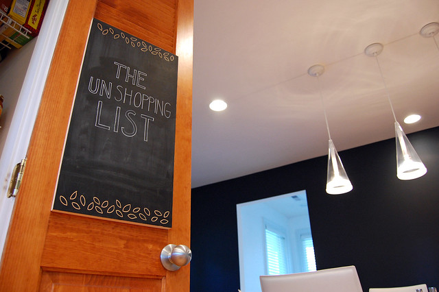 DIY Chalkboard - Unshopping List