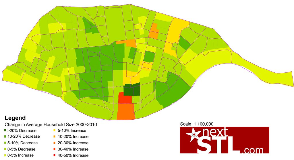 2010 Census Maps 2010 Census Maps of st Louis