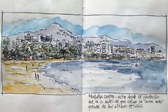 Marbella Panoramica - Ral Len (Bichobolas) Tags: sailor watercolors marbella winsornewton hahnemhle kiwaguro bijoubox raulleon
