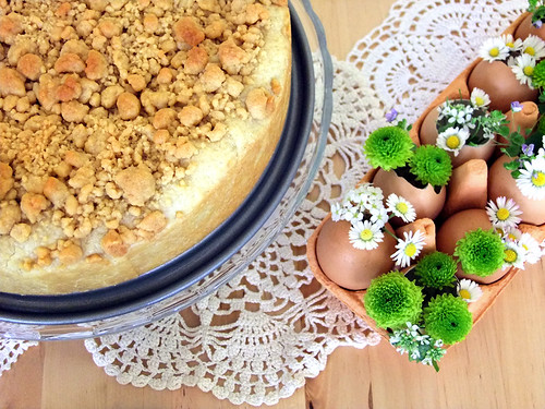 Apple pie and easter decoration