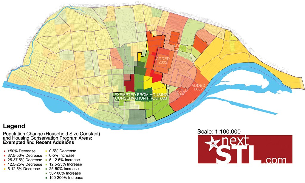 2010 Census maps of St. Louis by nextSTL