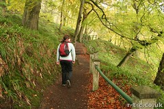 Emma-Jane on the Falls of Clyde walk. (Tim R-T-C) Tags: autumn scotland scenery newlanark lanarkshire emmajane fallsofclyde