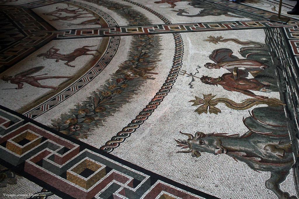 Mosaïques romaines de la Salle Ronde, provenant des Thermes d'Otricoli