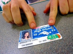 a PPS student ID with YouthPass sticker