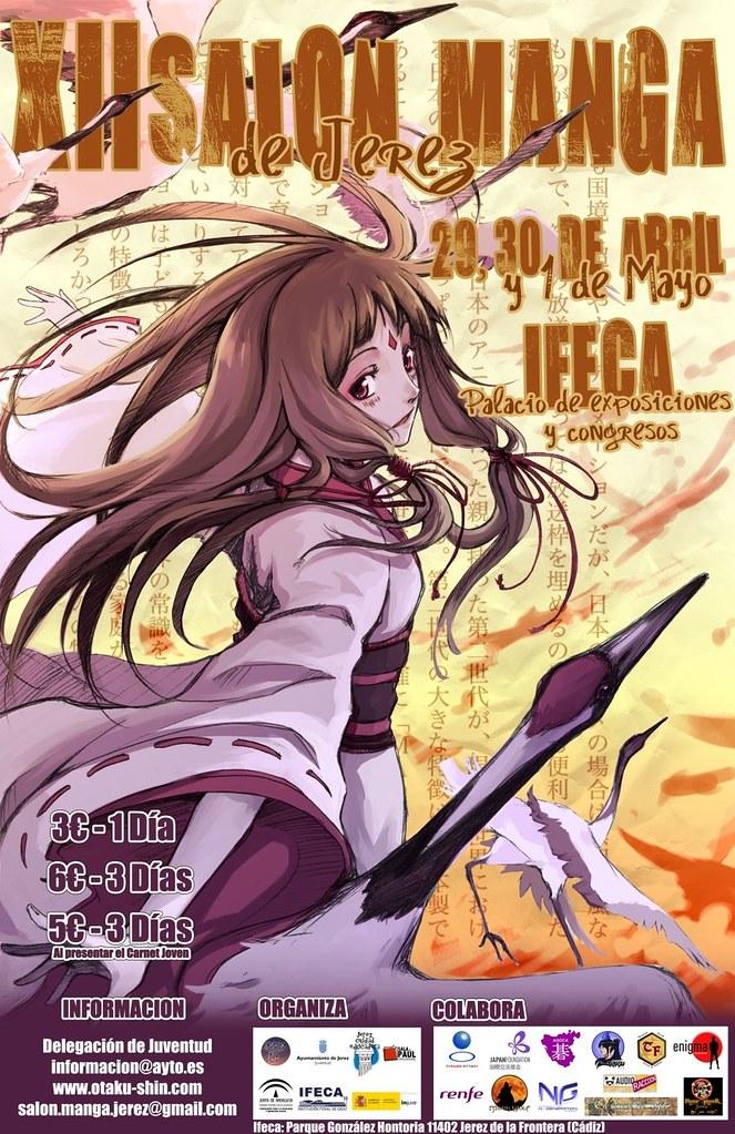 Cartel XII Salón Manga Jerez