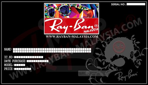 Ray ban Warranty Card