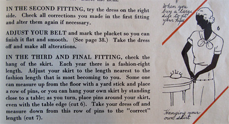 Simplicity Skirt Fitting Tips