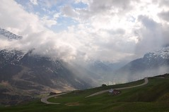 Light over Andermatt (raindog) Tags: sky sunlight mountains alps switzerland nikon beams oberalp d90 france11
