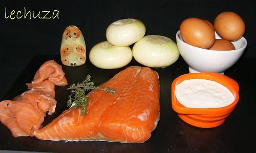Tarta de salmón-ingrs.