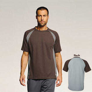 Promotional Items-alo - Short Sleeve Colorblock T-Shirt 17009
