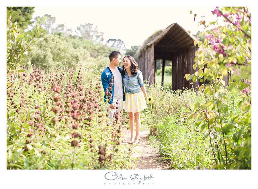 engagement photos at santa barbara botanical gardens