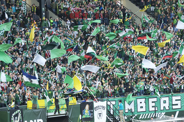 Timbers Army Flags