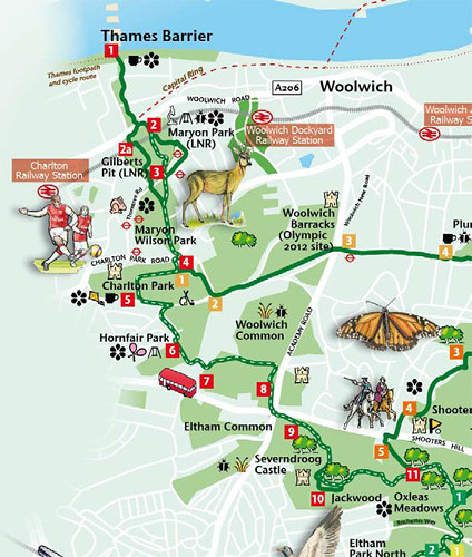 Green Chain Walk Map Green Chain Walking Festival – a spark in your veins Green Chain Walk Map