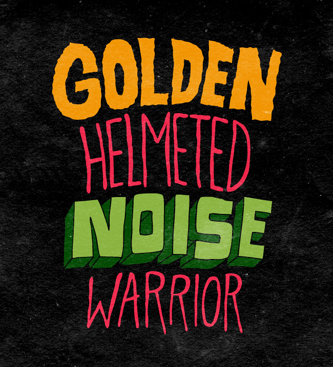 Golden helmeted noise warrior donald trump stephen colbert chris piascik