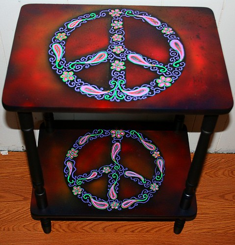Peace Sign Shelf by Rick Cheadle Art and Designs