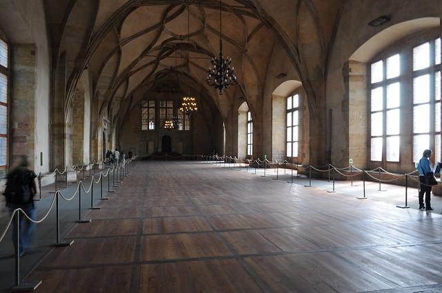 El salón de Vladislav en el Palacio Real en el Ca
