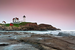Nubble Lighthouse (Jim Boud) Tags: york longexposure lighthouse mist seascape lens landscape island coast is pastel maine newengland wideangle atlantic usm beacon atlanticocean lightroom artisticphotography yorkharbor pastelcolors smoothwater nubblelighthouse jimboud 10stopndfilter bwndfilter mistywater canoneos60d jamesboud canonefs1585mmf3556isusm canon1585mm tiffengradfilter