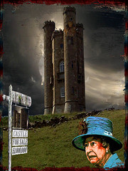 Recession! (Cheyberpunk!) Tags: wood windows sky tower castle glass strange stone skull photo elizabeth cloudy turquoise border broadway stormy queen textures hidden odd ii only anarchy bone daft comp ethyl 143 2011 lefthandpath
