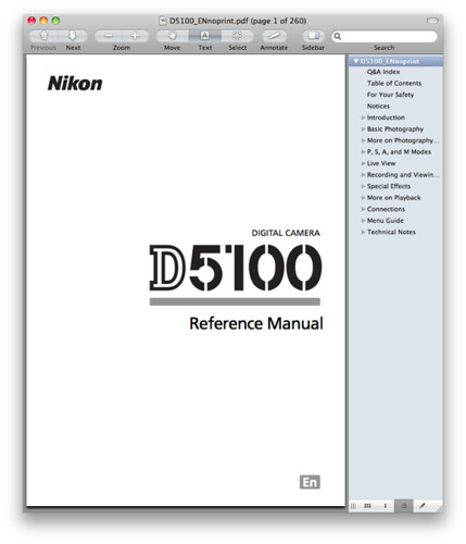Nikon D5100 Instruction Guide | Homeminimalis.com