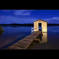 Wheel House (Garry - www.visionandimagination.com) Tags: blue river timber jetty historic boatshed ruleofthirds wheelhouse leadinglines maroochydore leadingline