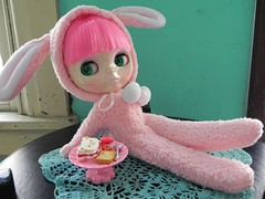 Bunny suit and candy