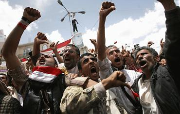 Demonstrations erupted in Yemen after President Saleh refused to sign an agreement to transfer power that was drafted by the Gulf Cooperation Council. Yemen has witnessed huge anti-governent demonstrations for months. by Pan-African News Wire File Photos