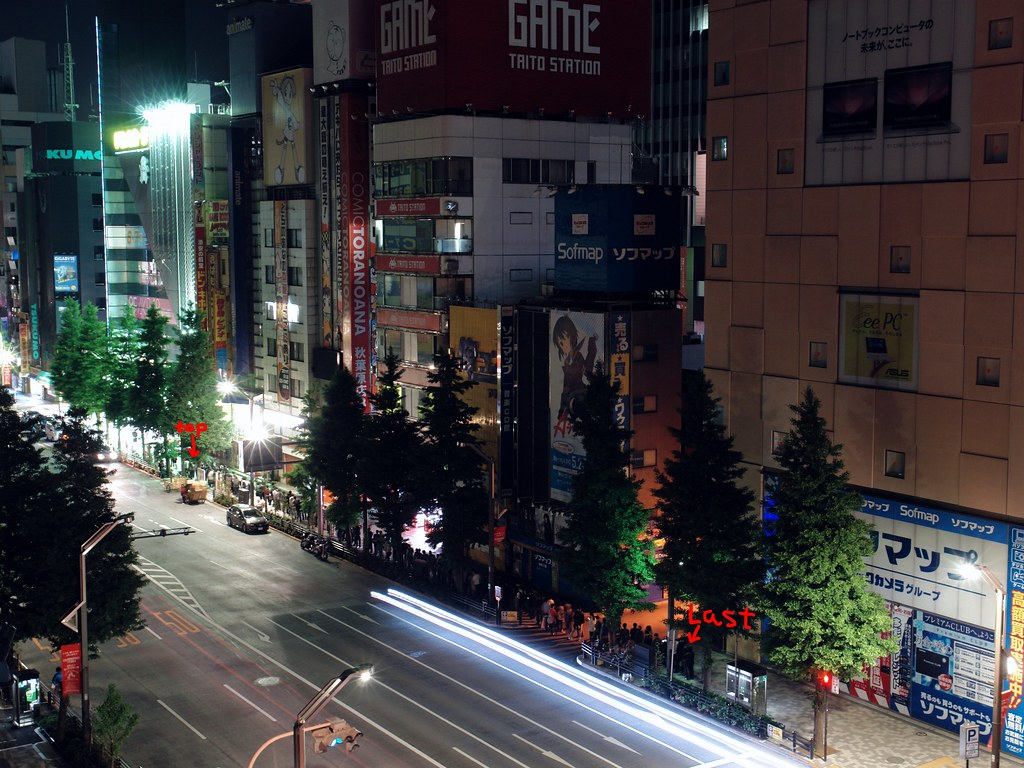 """Over 100 fans are waitng for the time on the road : """"The Surprise of Haruhi Suzumiya"""" is releaced  tonight (at animate Akihabara.)"""