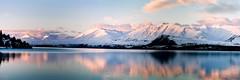 Lake Tekapo Panorama (Matthew Post) Tags: newzealand panorama lake snow mountains reflection canon 350d southisland laketekapo