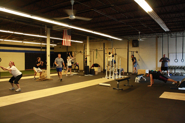 "Sky's Limit CrossFit doing ""Murph"" Hero WOD"