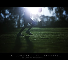 The Pursuit of Happiness (Musaad (CJ)) Tags: park sun silhouette sport ball football kid dof pov australia teen footie bestofaustralia discoveryphotos