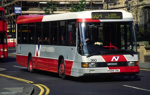 Northumbria Motor Services DAF SB220 / Optare Delta 260 (H598CNL)